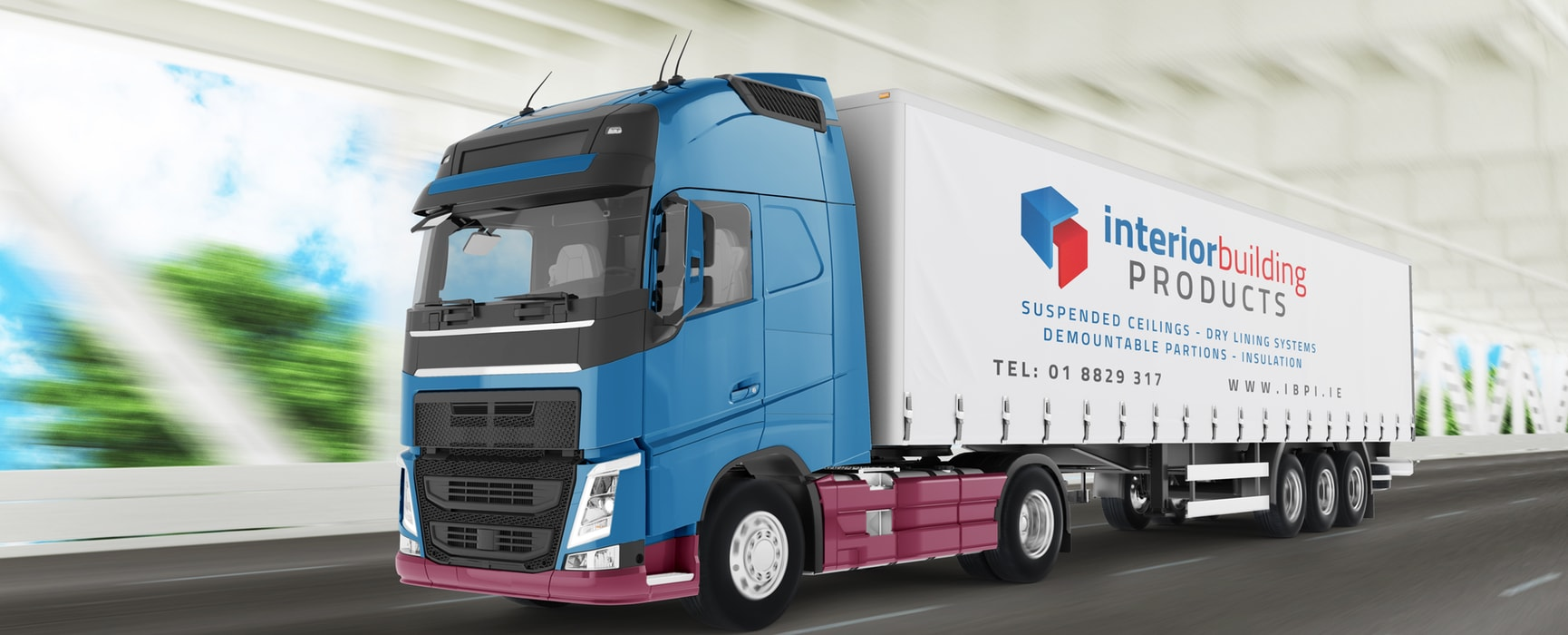 Interior Building Products - Artic Lorry Mockup
